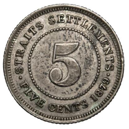 Straits Settlements, Victoria, 5 Cents, 1879
