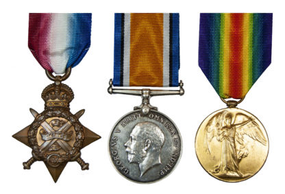 WWI, 1914, Casualty Trio to Captain Alfred Henry Broad
