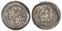 Italy, Aquileia, Volchero (1204-18), silver Denaro con Aquila
