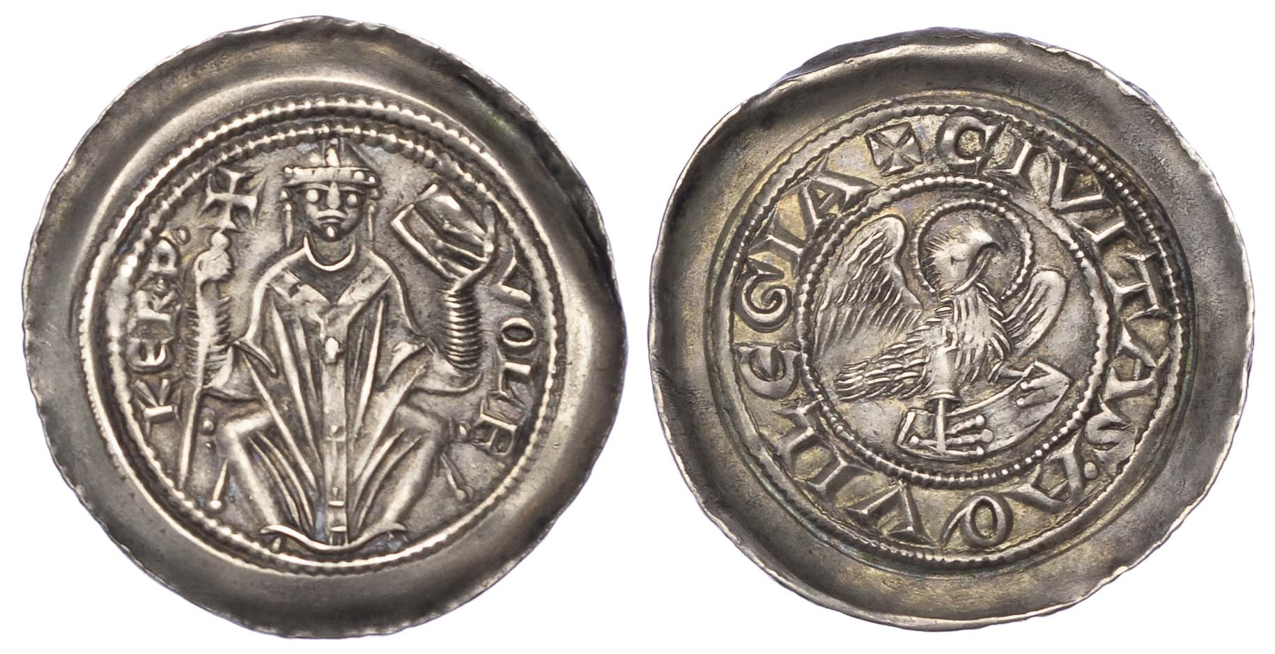 Italy, Aquilea, Volchero (1204-18), silver Denaro con Aquila