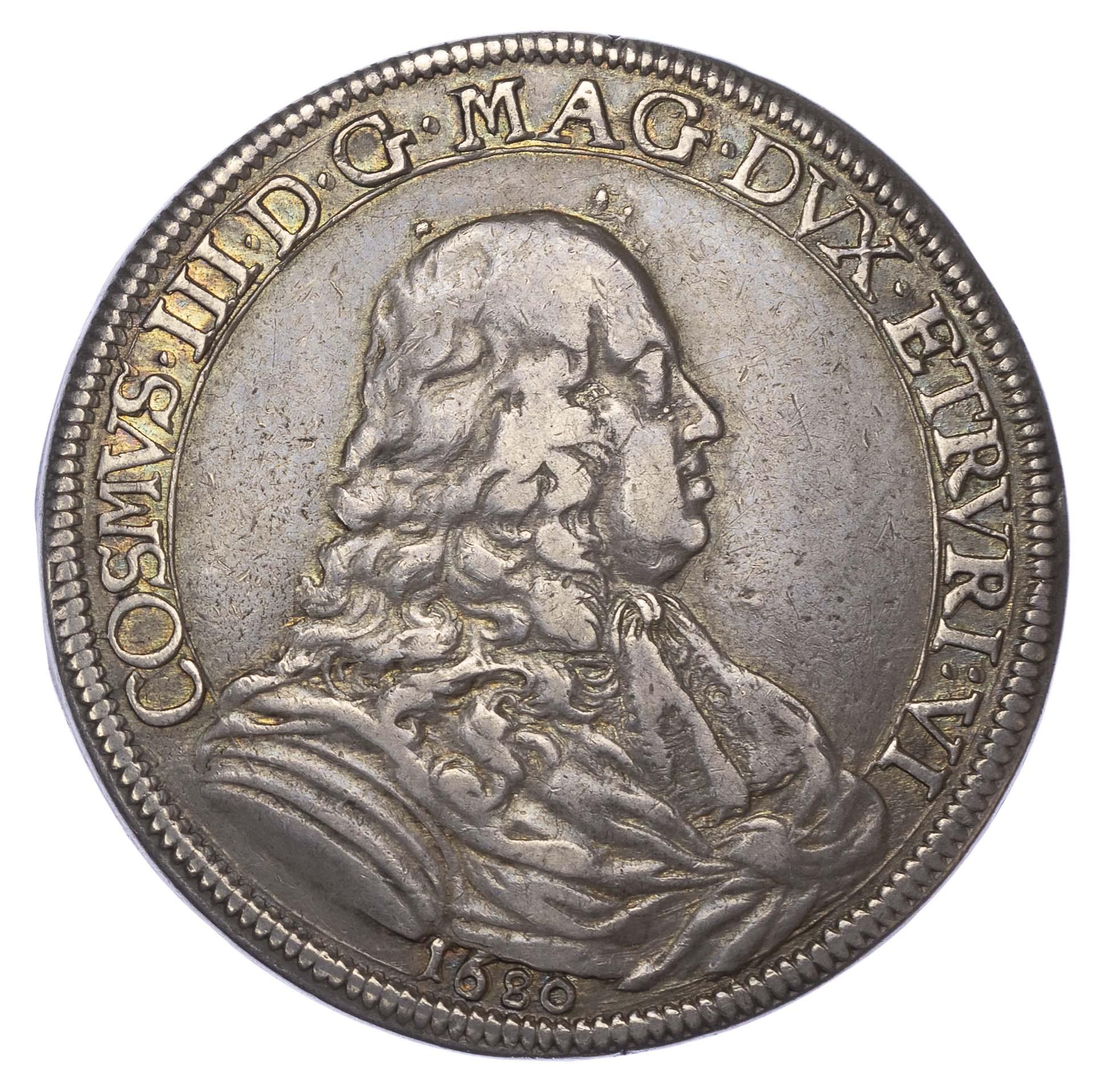Italy, Florence, Cosimo III de' Medici (1670-1723), silver Piastra