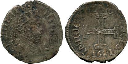 Italy, Naples, Philip III of Spain, Silver Carlino, 1621