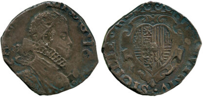 Italy, Naples, Philip IV of Spain, Silver Tari, 1622