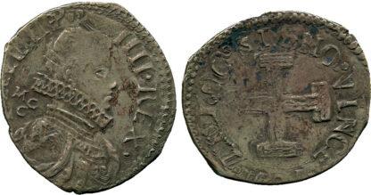 Italy, Naples, Philip IV of Spain, Silver Carlino, 1621