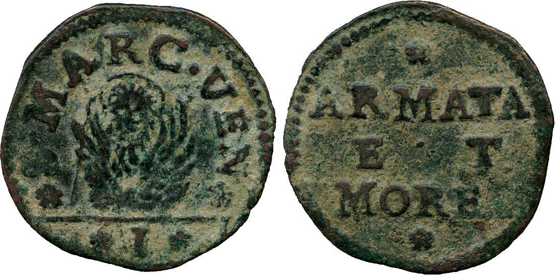 Italy, Venice, for Armata & Morea, Copper Soldo
