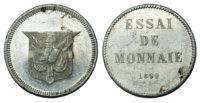 Dominican Republic, Aluminium Essai 1 Centavo, 1892 - RARE