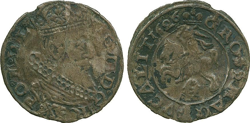 Poland, Zygmunt III Waza, Silver Grosw Litewski, 1626