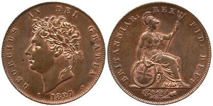 George IV, Halfpenny, 1827