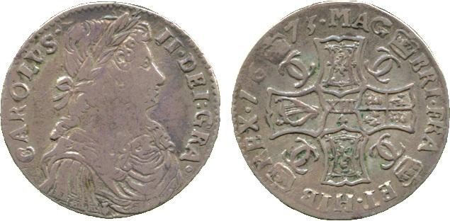 Scotland, Charles II, Merk, 1672