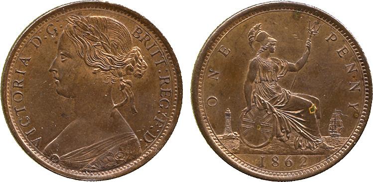 Victoria, Penny, 1862