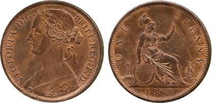 Victoria, Penny, 1868