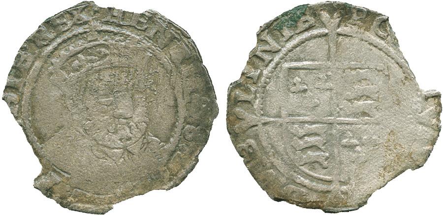 Ireland, Henry VIII, Posthumous Issue, Threepence Halfgroat