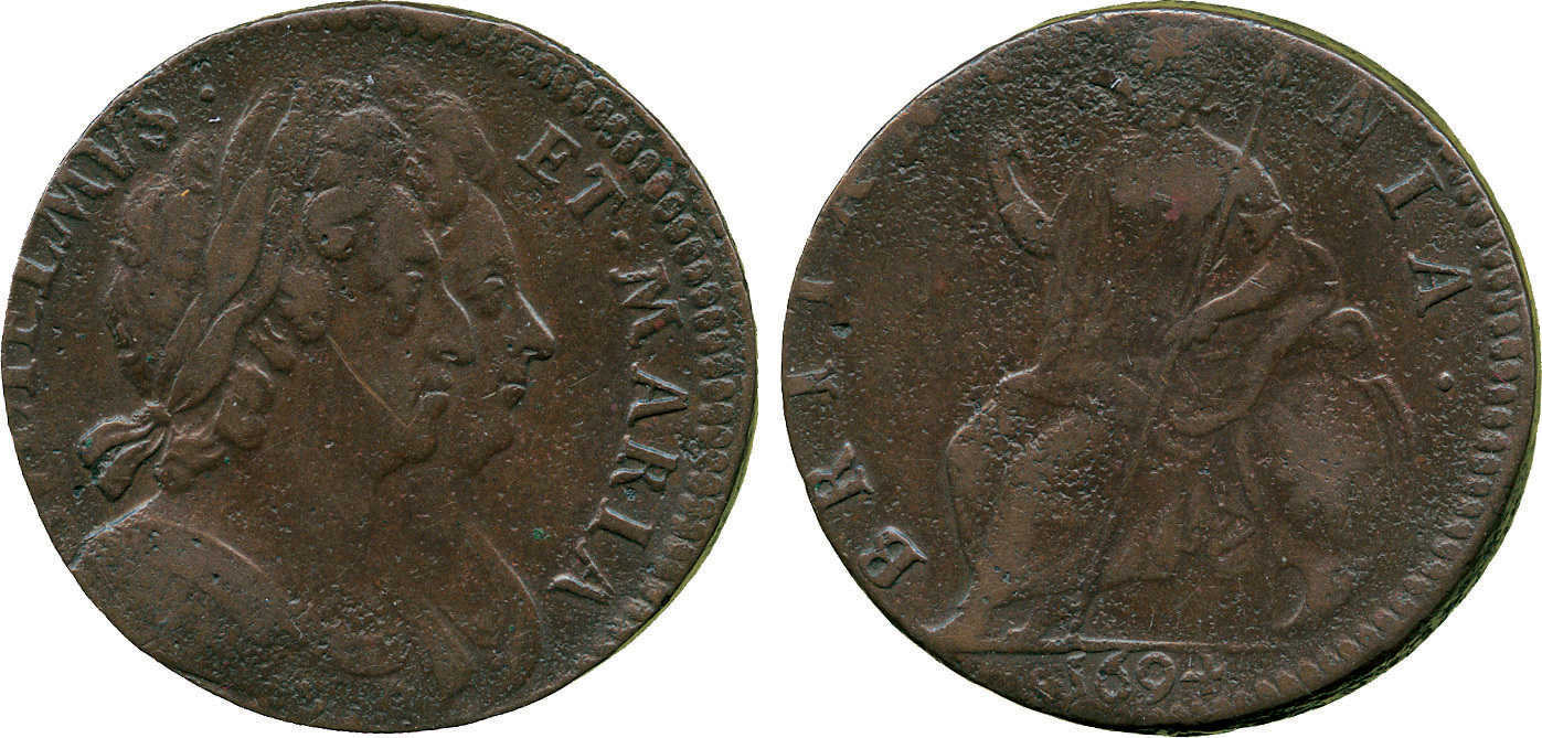William & Mary Halfpenny, 1694