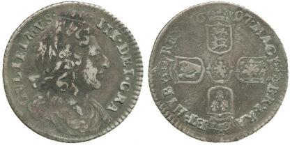 William III, Sixpence, 1697