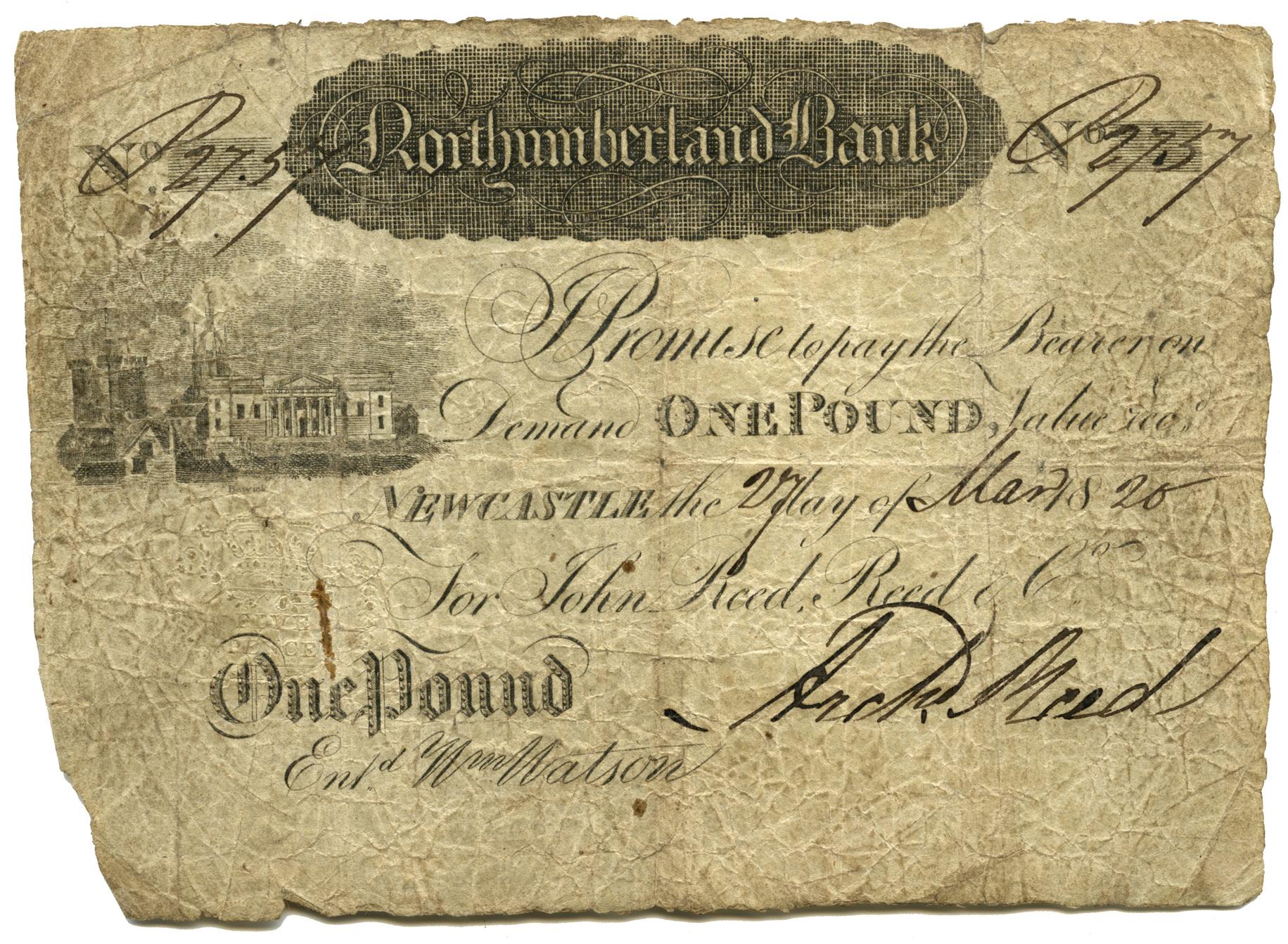 Great Britain, Newcastle, £1, 1820