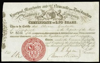 Great Britain, Railway Share Certificate (2)