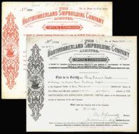 GB, Howden-on-Tyne, Shipbuilding Share Certificates (2)