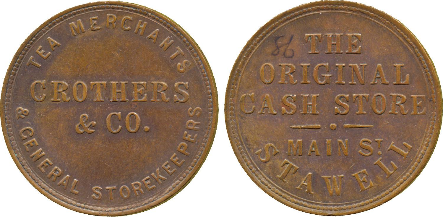 Australia, Crothers & Co, Penny Token, c.1862
