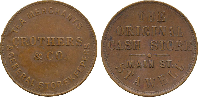 Australia, Tea Merchants, Halfpenny Token, c.1862
