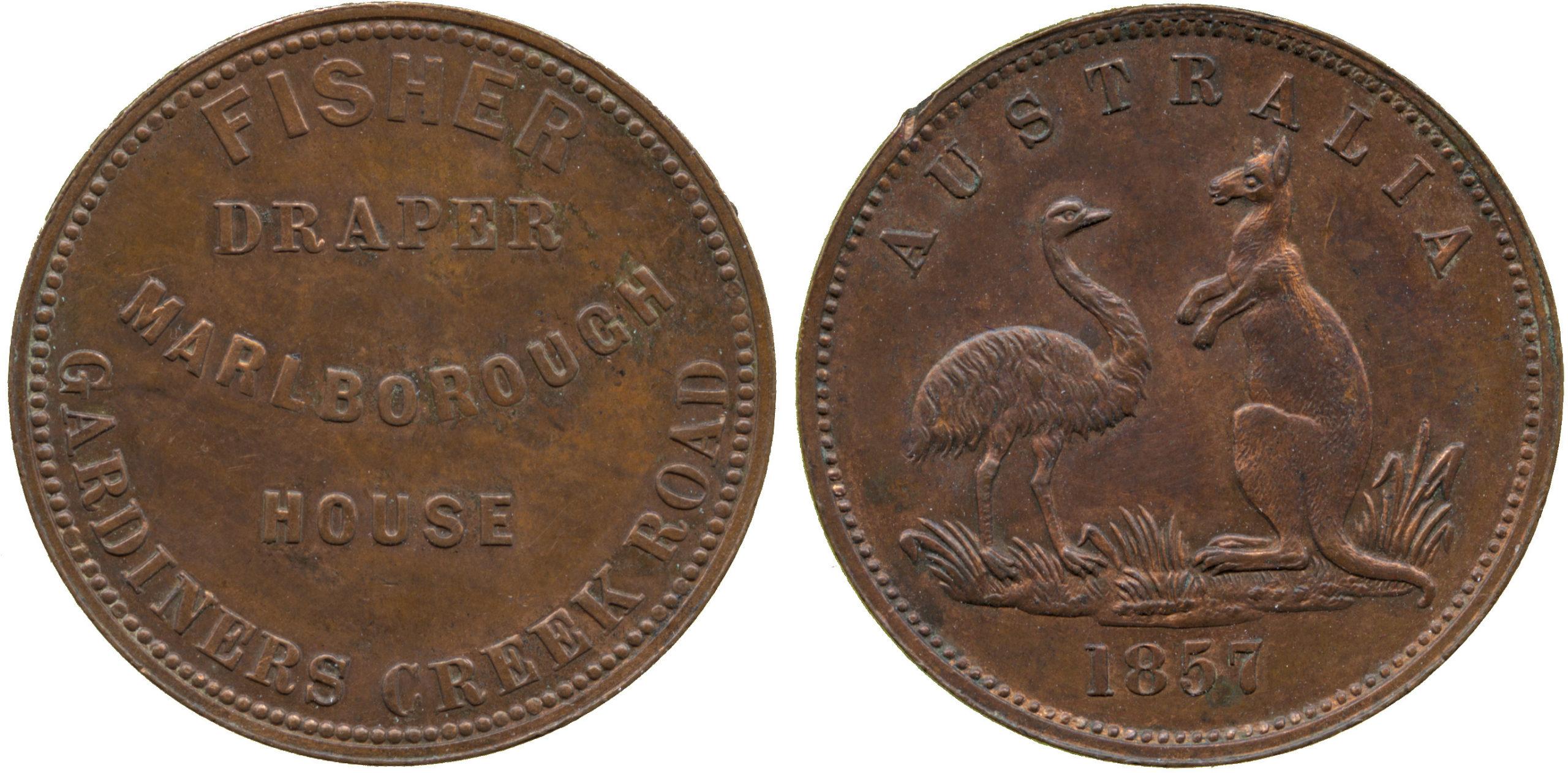 Australia, Victoria, Advertising Token, 1857