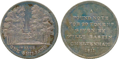 Cheltenham, St Marys Church, Shilling Token, 1811