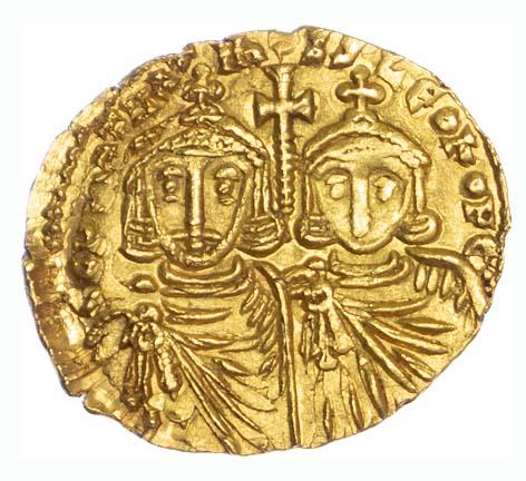 Constantine V & Leo IV, Gold Solidus