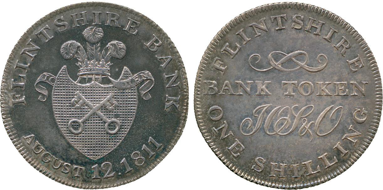 Wales, Flintshire, Shilling Token, 1811