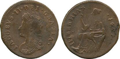 Ireland, James II, Halfpenny, 1691