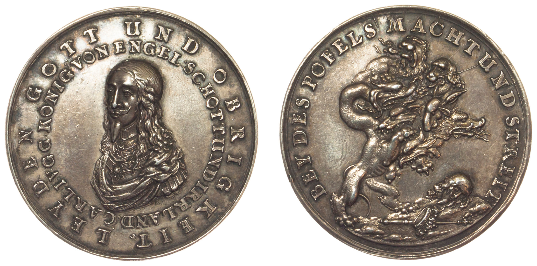 Charles I, Death and Memorial, Silver Medal, 1649