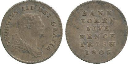 Ireland, George III, Bank Token, Five Pence, 1805