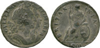 William & Mary, Tin Farthing, 1691