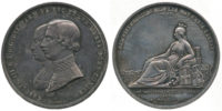 Italy, Arrival of Charles III, Duke of Parma, Medal, 1849