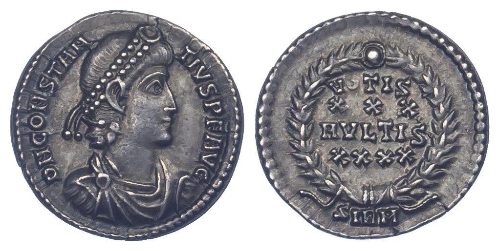 Constantius II, Silver Siliqua