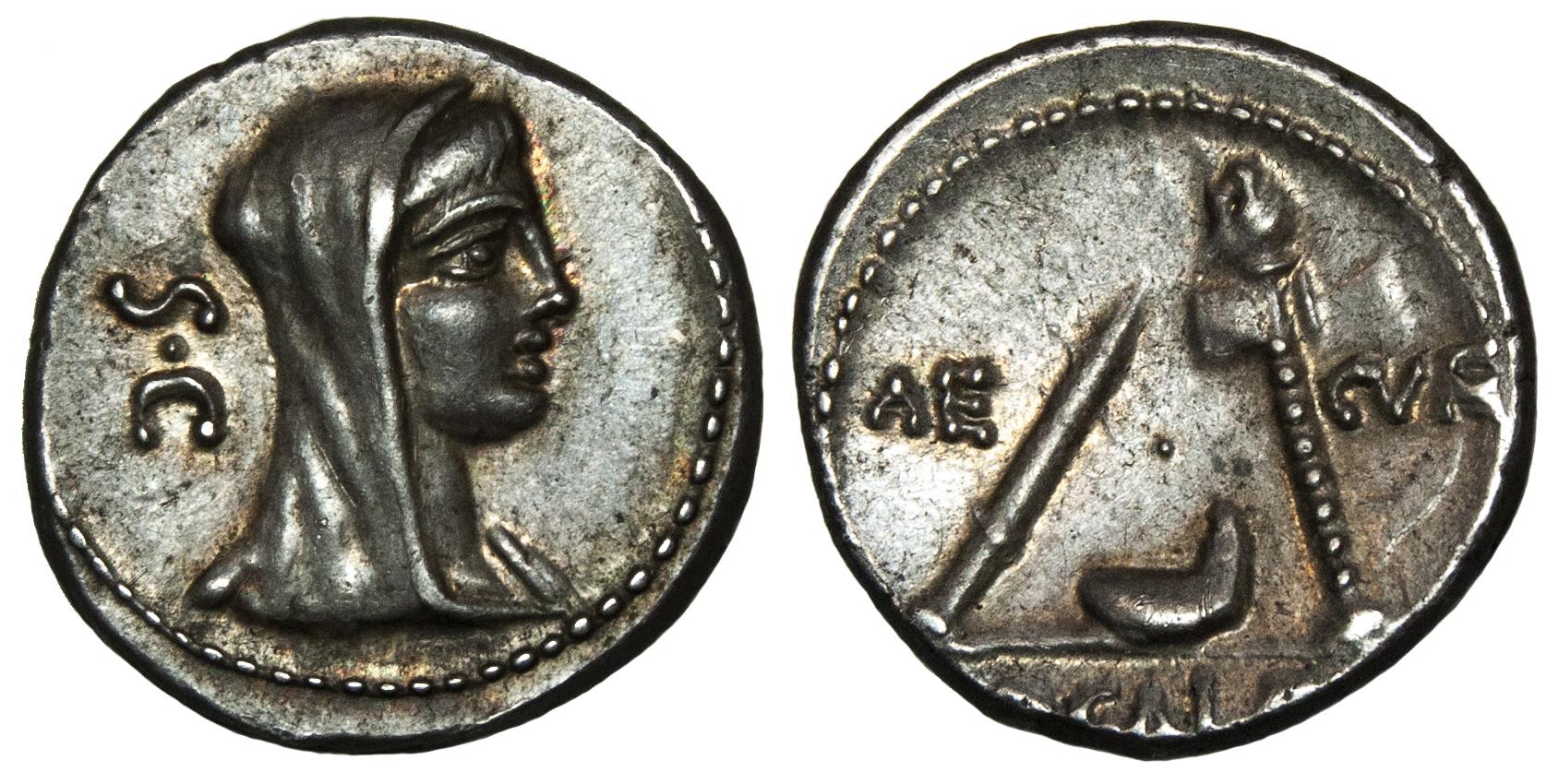 P. Sulpicius Galba, Silver Denarius