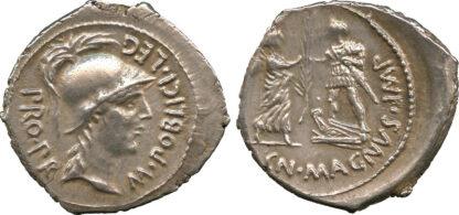 Cn. Pompeius Magnus, Silver Denarius