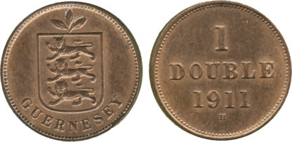 Channel Islands, Guernsey, George V, One Double, 1911