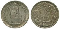 Switzerland, Confederation, Silver 1/2 Franc, 1928