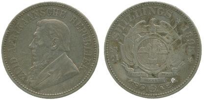 South Africa, Paul Kruger, Silver Halfcrown, 1895