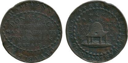 Warwickshire, William Donald, Halfpenny Token, 1792