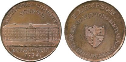 Birmingham, Blue Coat Charity School, Trade Token, c.1797