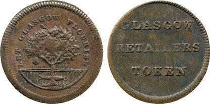 Scotland, Glasgow, Farthing Token, c.1780