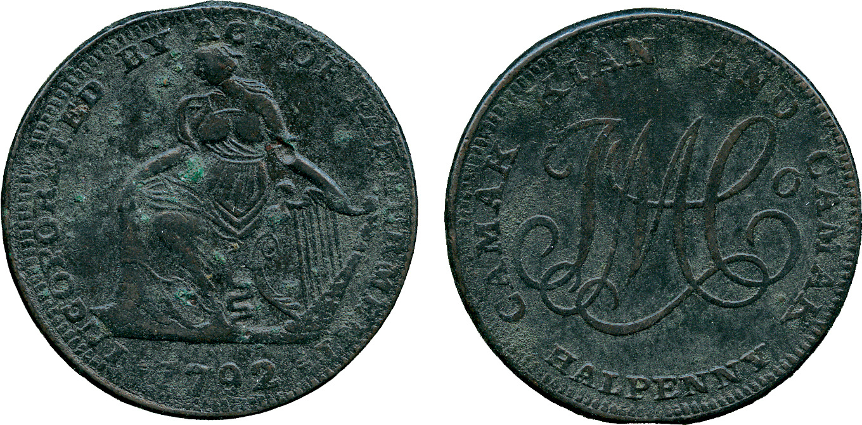 Ireland, Dublin, Halfpenny Token, 1792