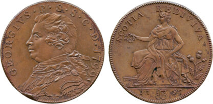 Scotland, Ayrshire, Fullerton's, Halfpenny Token, 1799