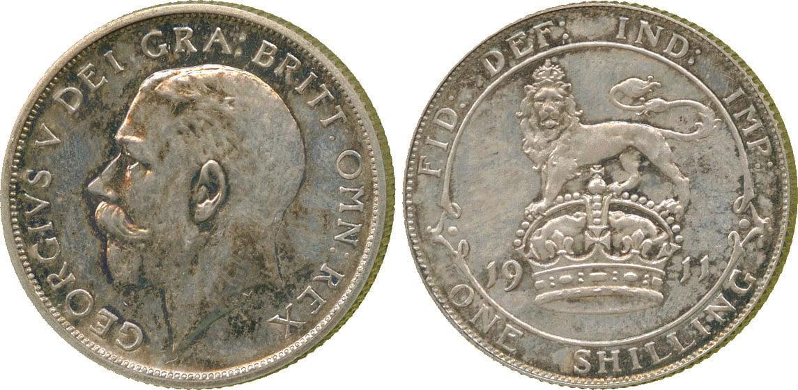 George V, proof Shilling, 1911