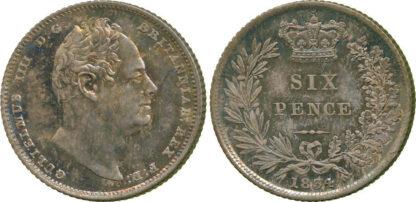 William IV, proof Sixpence, 1834