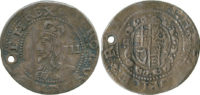 Charles I, Threepence, Worcester
