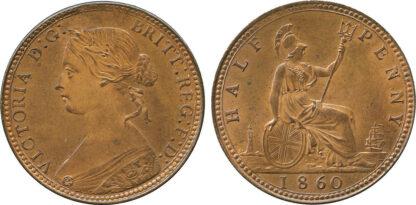 Victoria, Halfpenny, 1860