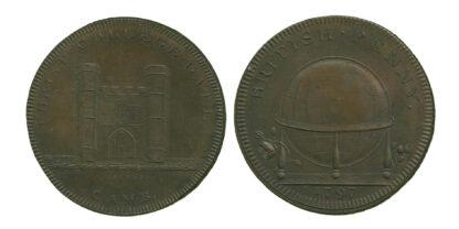 Cambridge, Copper Penny Token, 1797