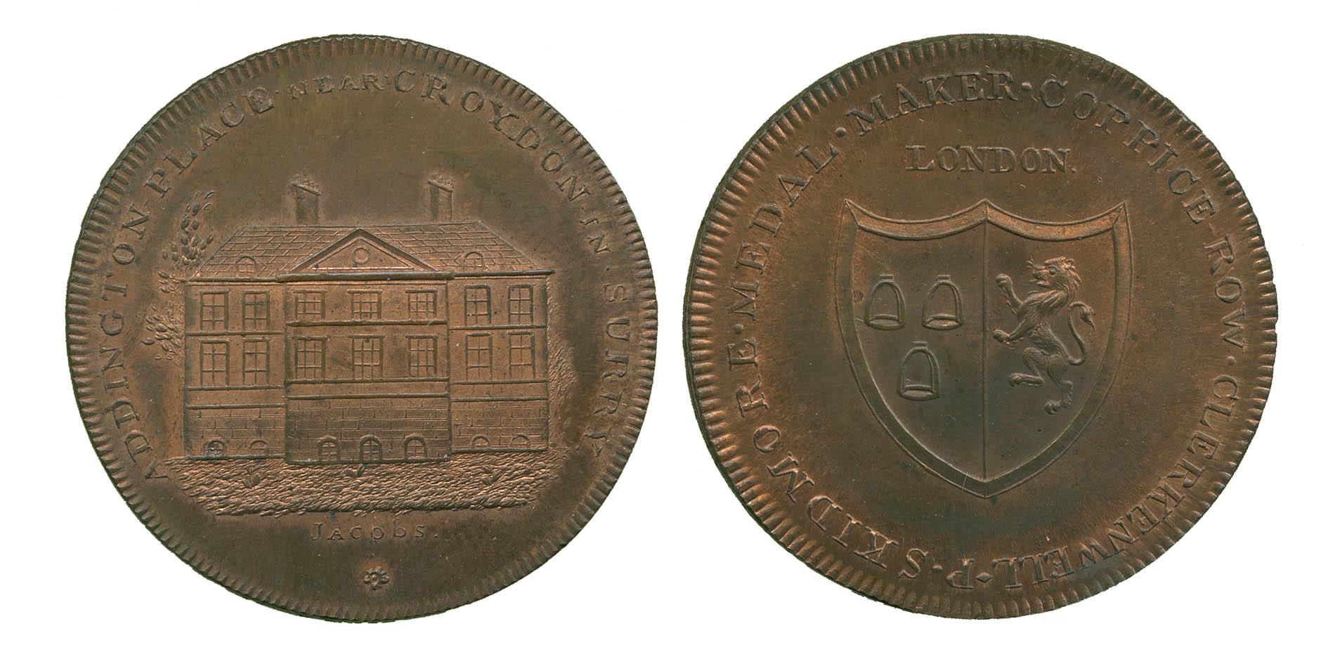 Surrey, Croydon, Addington Place, Penny Token, 1797