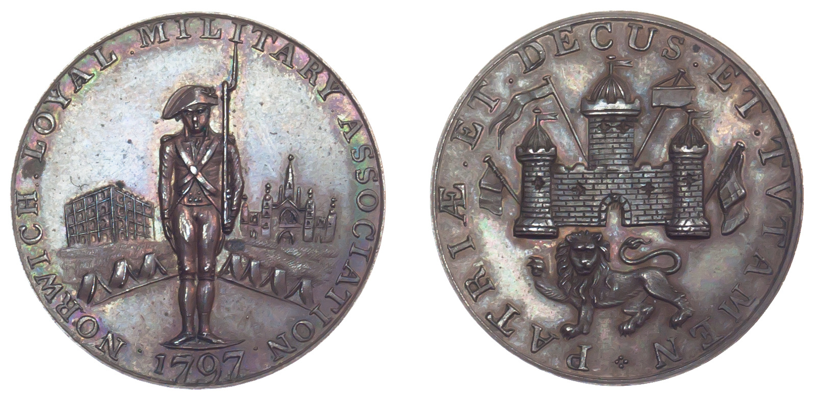 Norfolk, Norwich Loyal Military Association, Token, 1797